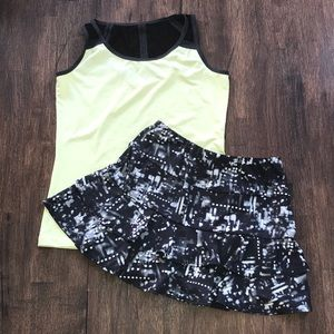 Tail 2p Tennis Top Skirt Set XS